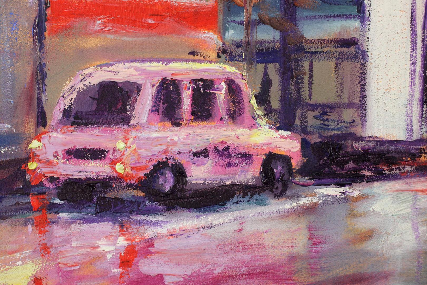 Manchester Night: Pink Taxi