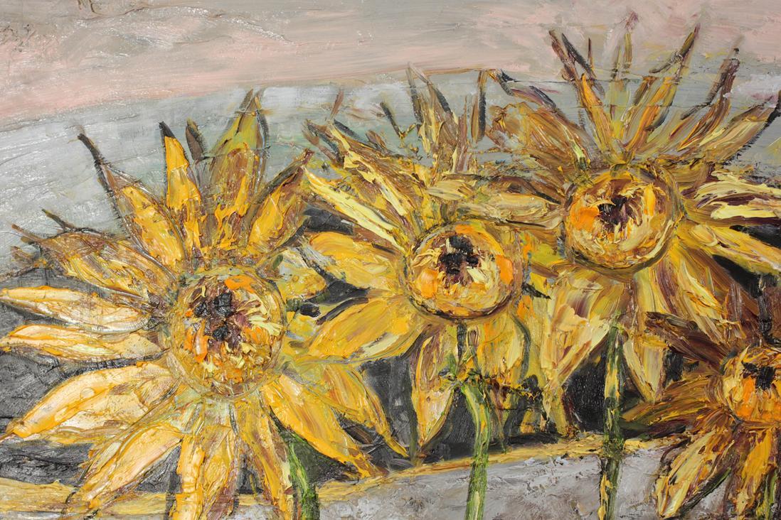 Słoneczniki w pejzażu