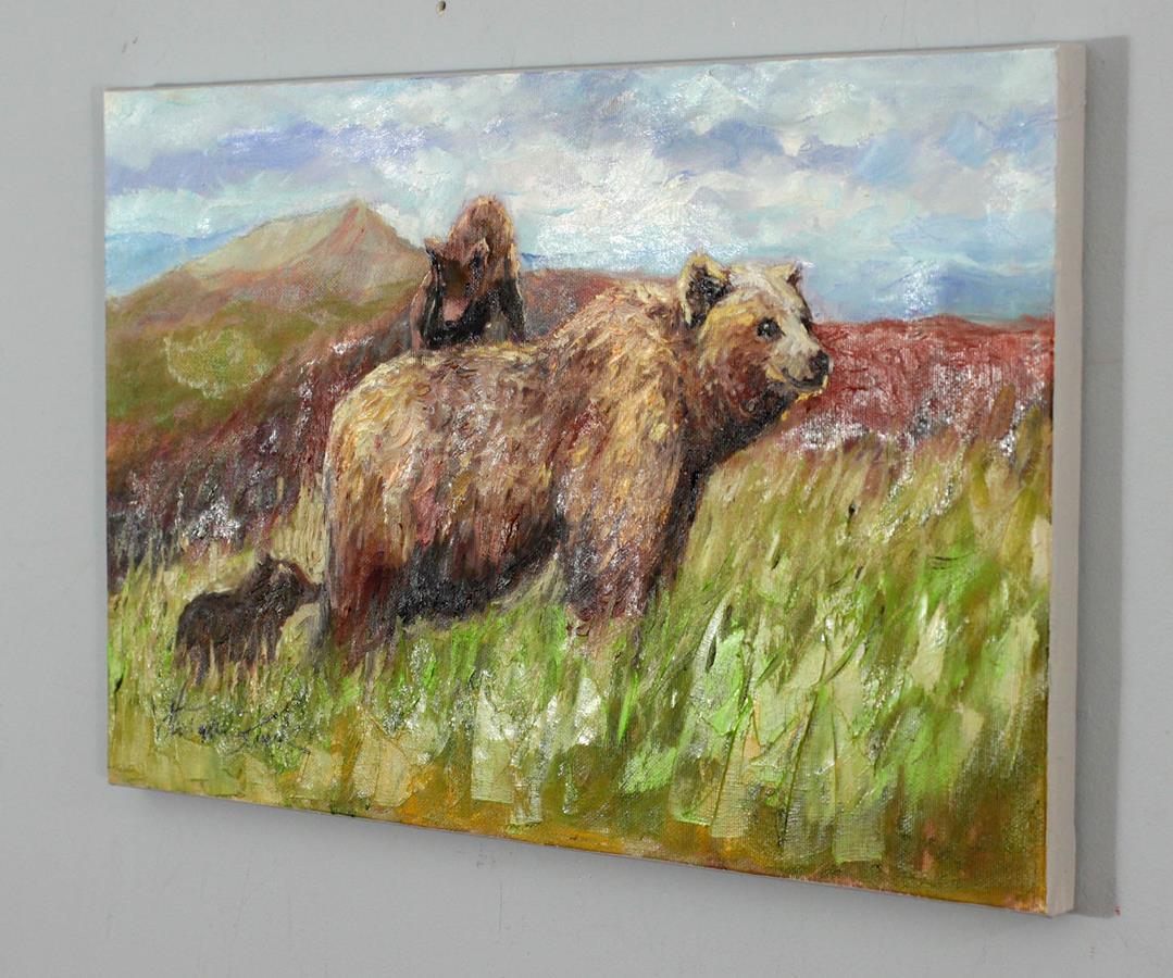 Niedźwiedzica z młodymi