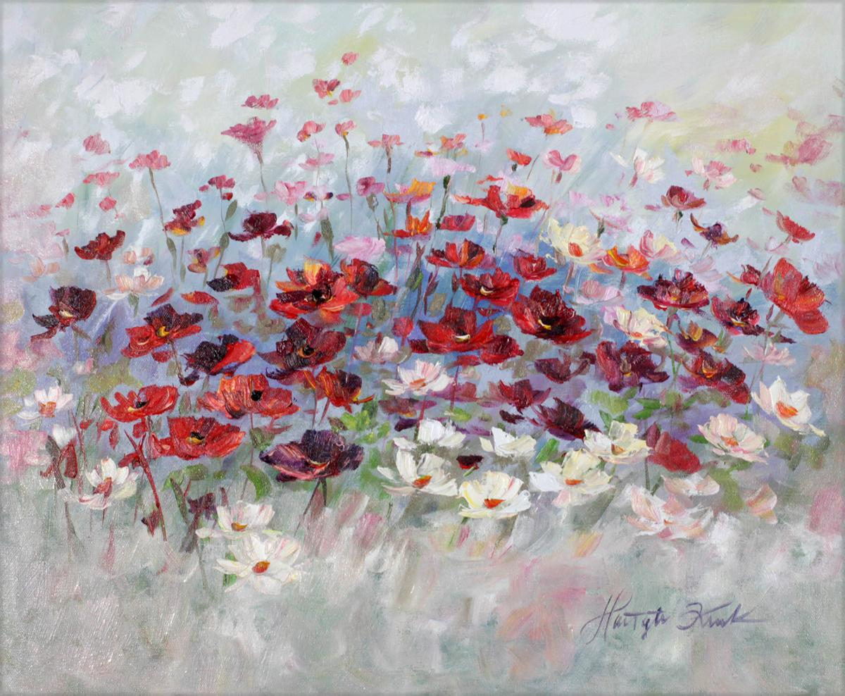 Kwiaty we mgle