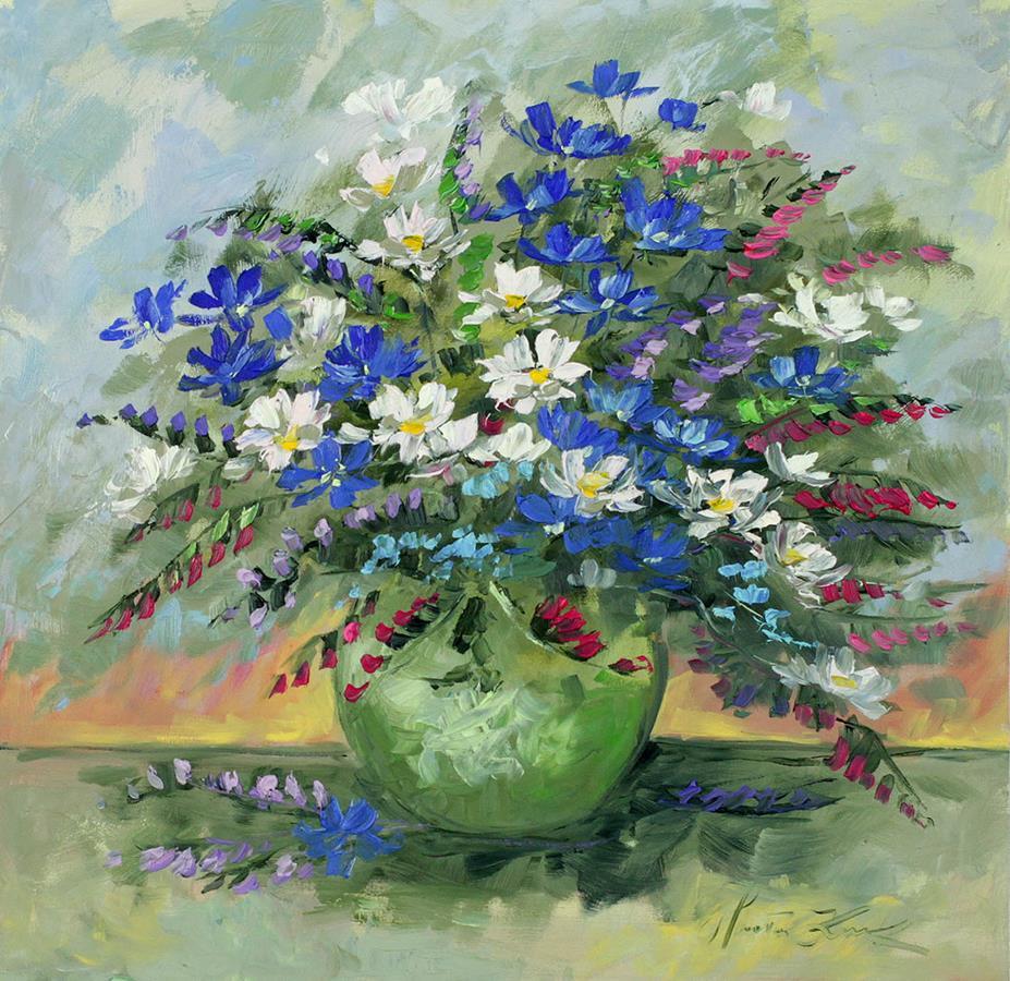 Niebieskie lato w wazonie