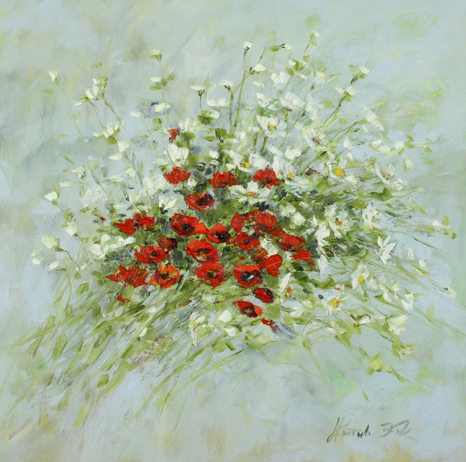 Biało czerwony bukiet