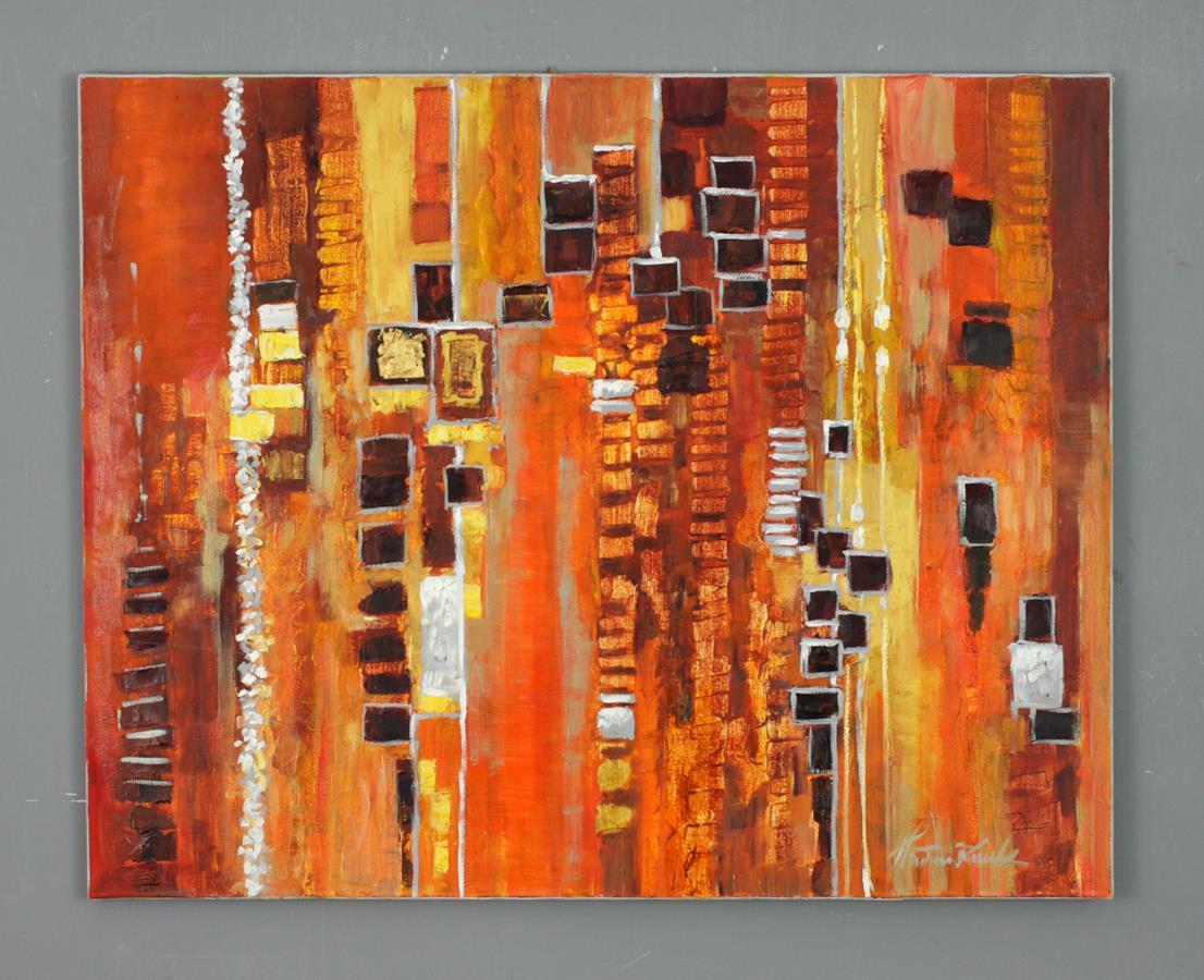 Abstrakcja czerwona