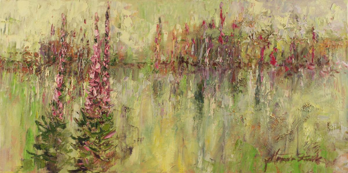 Trawy nad wodą