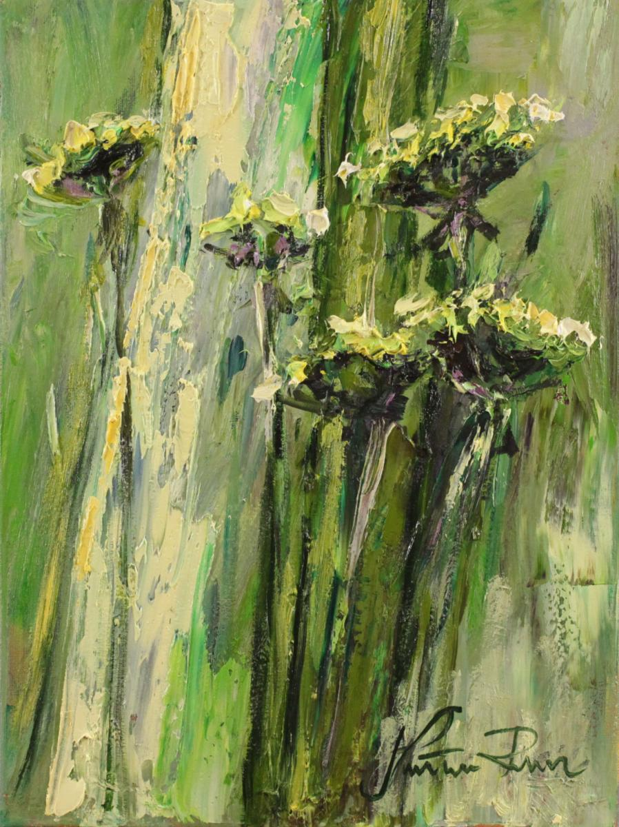 Trawy zielone o swicie